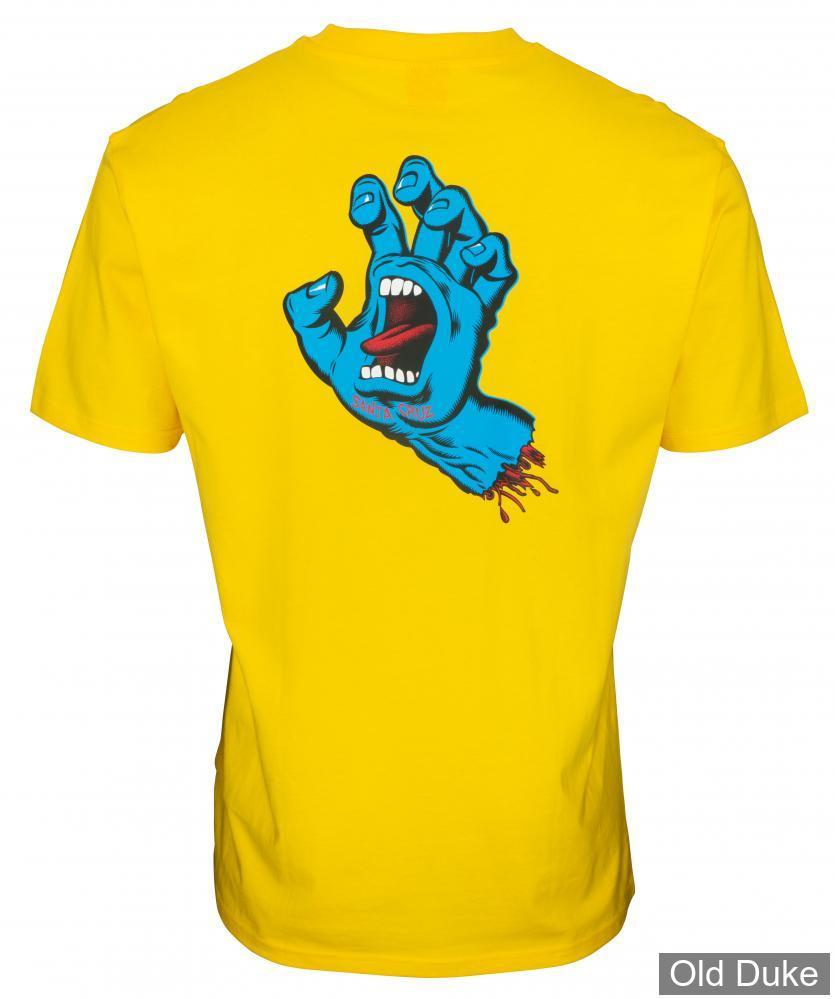 TEE-SHIRT - SANTA CRUZ - Screaming Hand Chest T-Shirt - BLAZING YELLOW