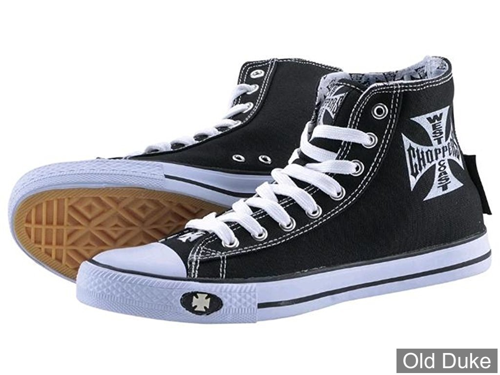 CHAUSSURES - WEST COAST CHOPPERS - BASKETS - WARRIOR - NOIR / BLANC - TAILLE : 46
