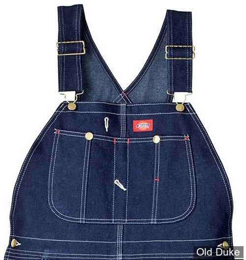 SALOPETTE DICKIES - DUCK BIB OVERALL RINSED - LOOSE FIT / DB100 SERIE - BLEU INDIGO - TAILLE : 42 - LONGUEUR : 32
