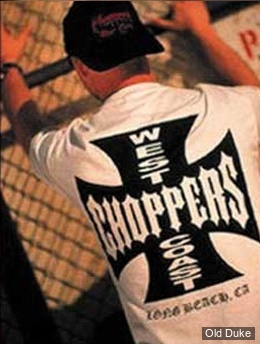 TEE-SHIRT - WEST COAST CHOPPERS - WCC OG Cross LBC - BLANC / LOGO NOIR - TAILLE : L