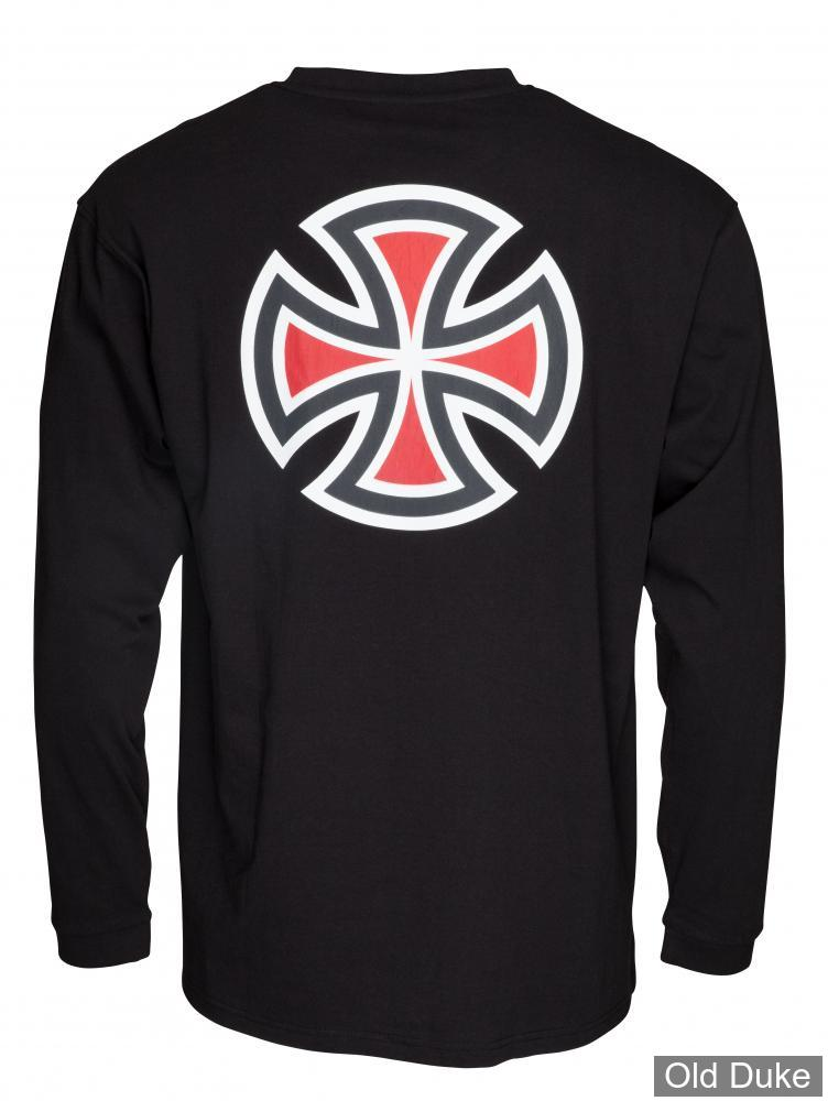 TEE-SHIRT A MANCHES LONGUES - INDEPENDENT - BAR CROSS - NOIR - TAILLE : L