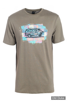 TEE-SHIRT - RIP CURL - VAN SS TEE - DUSTY OLIVE / VERT OLIVE - TAILLE : S