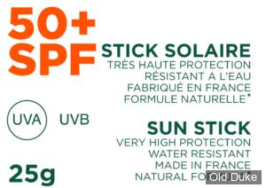 STICK SOLAIRE - GREEN BUSH - SPF 50+ - MINERAL - WHITE - 25gr