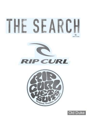 AUTOCOLLANT / DECAL - RIP CURL - RC STICKER PACK - COULEUR : BLANC