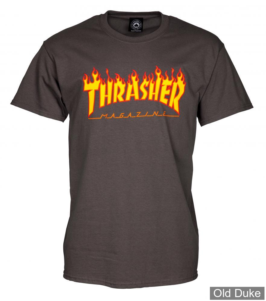 TEE-SHIRT THRASHER MAGAZINE - CHARCOAL FLAME - TAILLE : XL