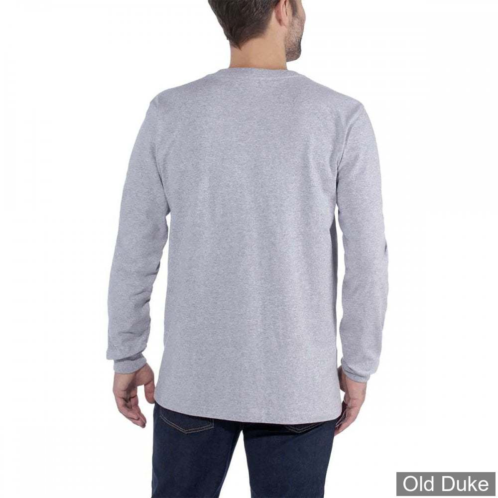 TEE-SHIRT A MANCHES LONGUE - CARHARTT - EMEA WORKWEAR SIGNATURE GRAPHIC LONG  SLEEVE - HEATHER GREY - TAILLE : M