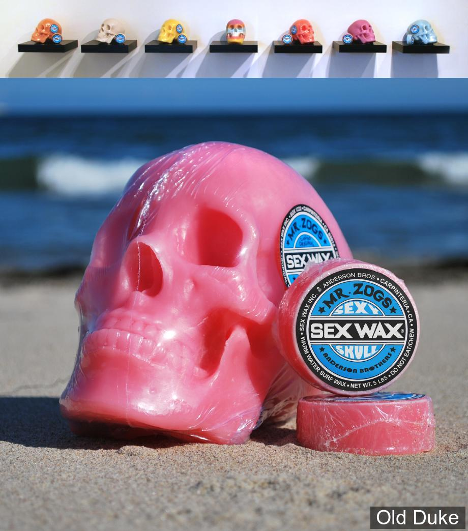 TOP COAT / SURF WAX - COOL (mid) TO WARM - TEMPERATURE : 18° A 26° - SEX WAX MR.ZOGS - ORANGE