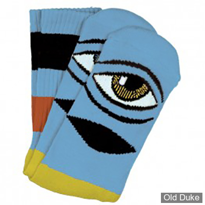 CHAUSSETTES - TOY MACHINE - SECT EYE BIG STRIPE SOCK - BABY BLUE - TAILLE / UNIQUE